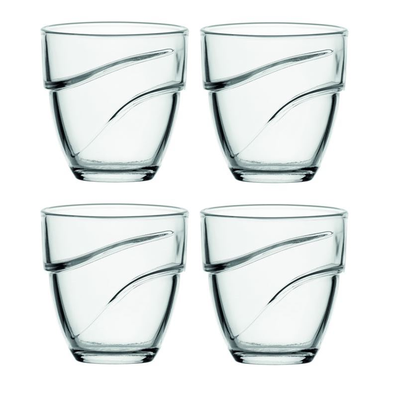 Duralex – Wave Tempered Glass Tumbler 270ml Set of 4 (Made in France)