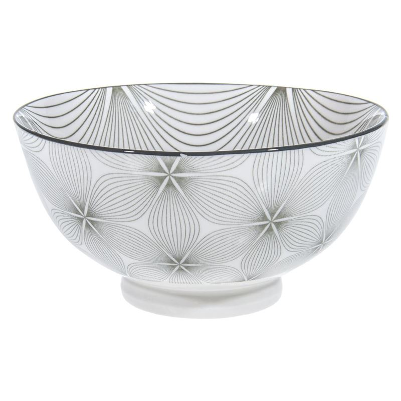 Gusta – Table Tales Commercial Grade Round Bowl Grey Wire Flower 15.7x7cm