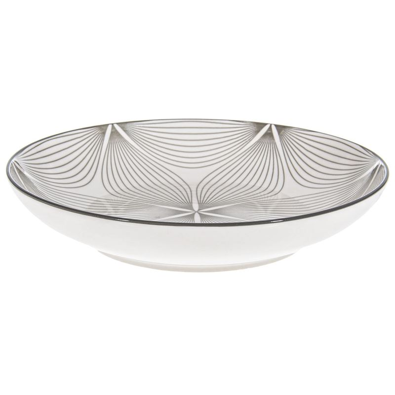 Gusta – Table Tales Commercial Grade Round Plate Grey Wire Flower 21.5cm