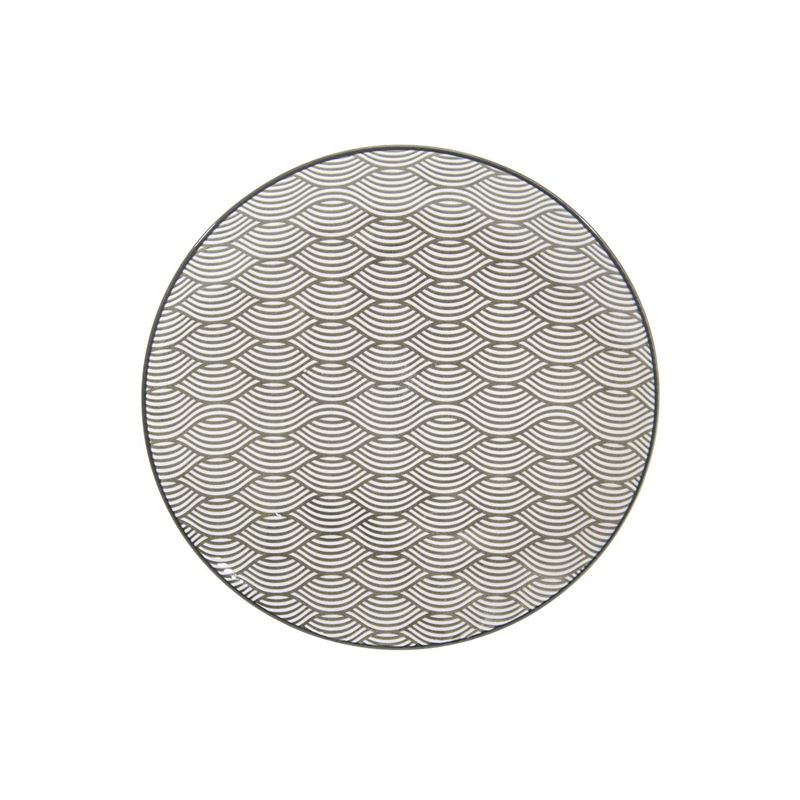Gusta – Table Tales Commercial Grade Round Entree Plate Grey Waves 21.5cm