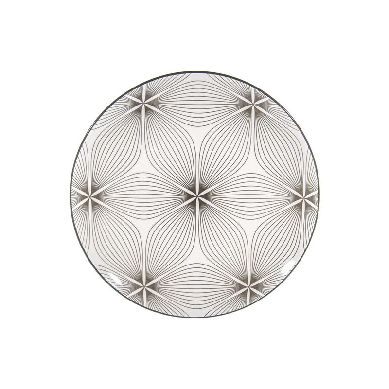 Gusta – Table Tales Commercial Grade Round Dinner Plate Grey Waves 26.5cm