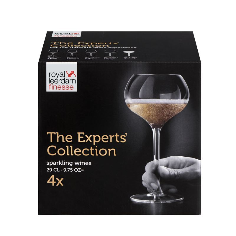 Royal Leerdam – Finesse The Experts Collection Coupe Champagne 290ml Sparkling Set of 4 (Made in The Netherlands)