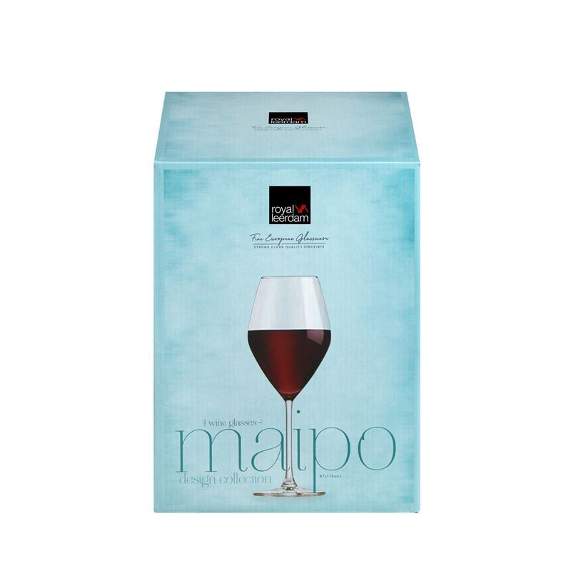Royal Leerdam – Maipo Red Wine Glass 470ml Set of 4 (Made in The Netherlands)