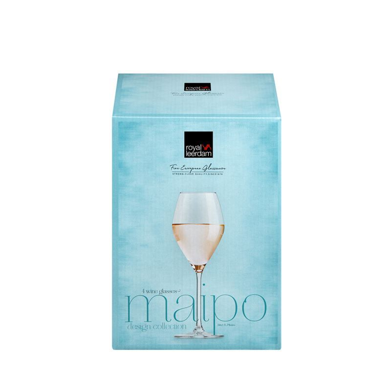 Royal Leerdam – Maipo White Wine Glass 340ml Set of 4 (Made in The Netherlands)
