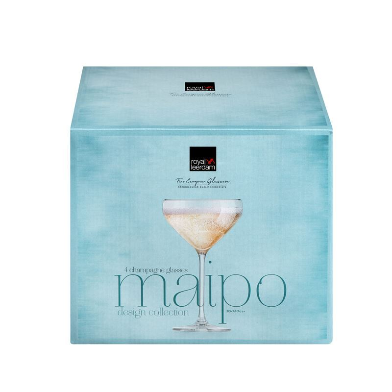 Royal Leerdam – Maipo Champagne Coupe 300ml Set of 4 (Made in The Netherlands)