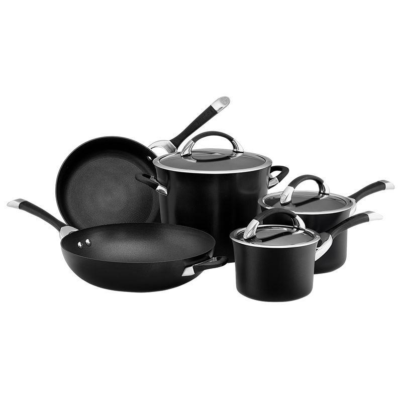 Circulon – Symmetry Hard Anodised Non-Stick 5pc Cookware Set