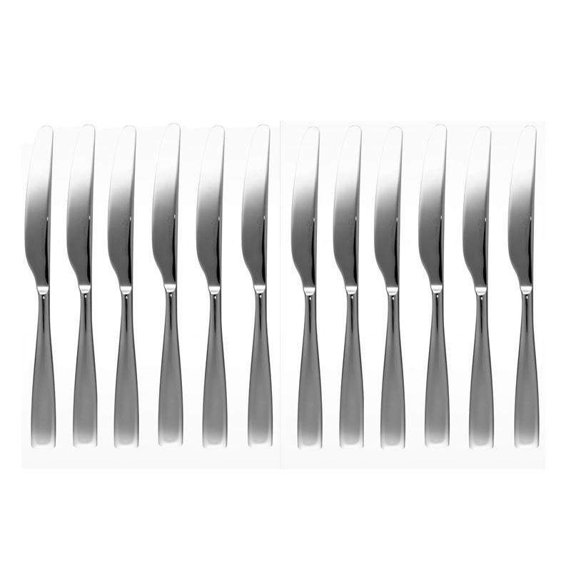 Studio William – Baobab Mirror Commercial Grade 18/10 Stainless Steel Table Knife Set of 12