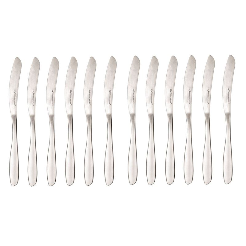 Studio William – Bodhi Satin Commerical Grade 18/10 Stainless Steel Table Knife Set of 12