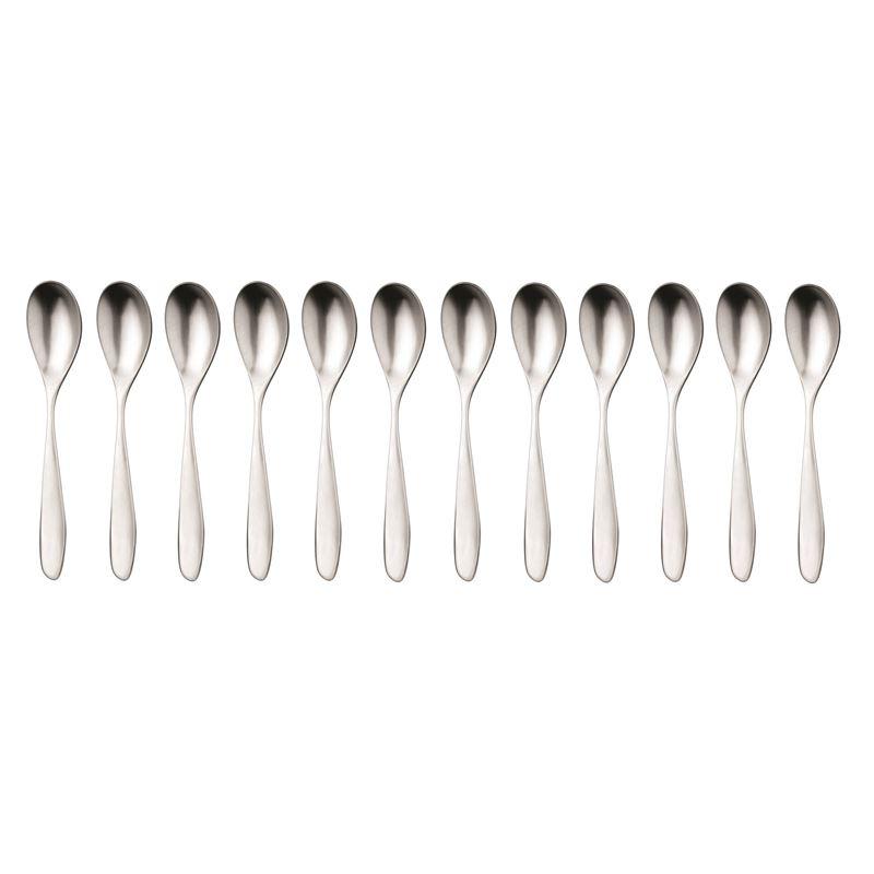 Studio William – Bodhi Satin Commercial Grade 18/10 Stainless Steel Bouillion Soup Spoon Set of 12