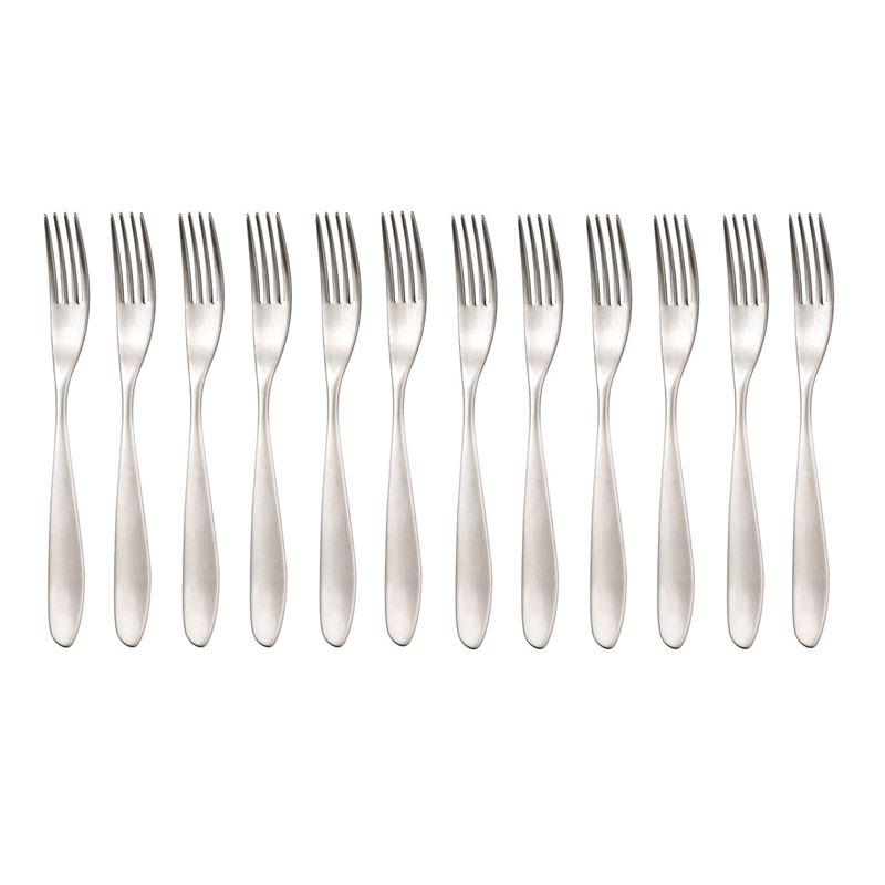 Studio William – Bodhi Satin Commercial Grade 18/10 Stainless Steel Dessert Fork Set of 12