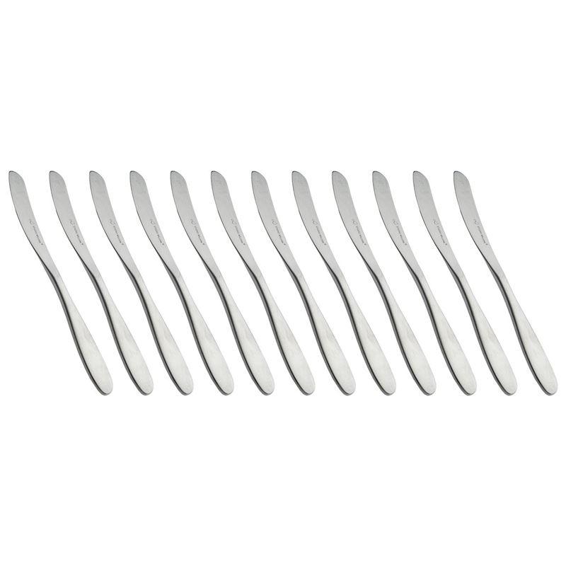 Studio William – Bodhi Satin Commercial Grade 18/10 Stainless Steel Dessert Knife Set of 12