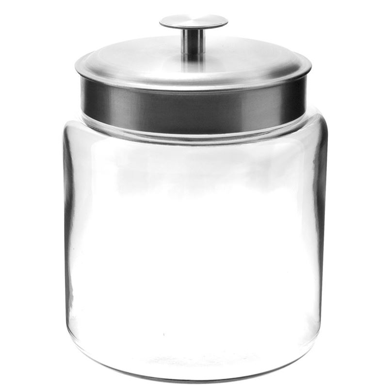 Anchor Hocking – Montana Jar with Brushed Stainless Steel Lid 22×17.5cm 2.9Ltr