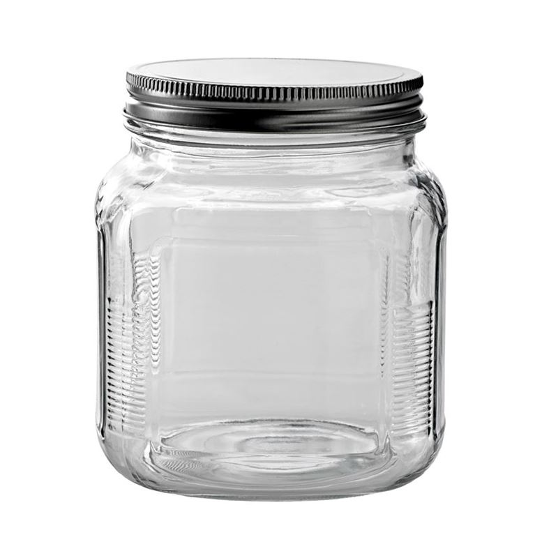 Anchor Hocking – Cracker Jar with Screw Top Lid 14x11cm 1Ltr (Made in the U.S.A)