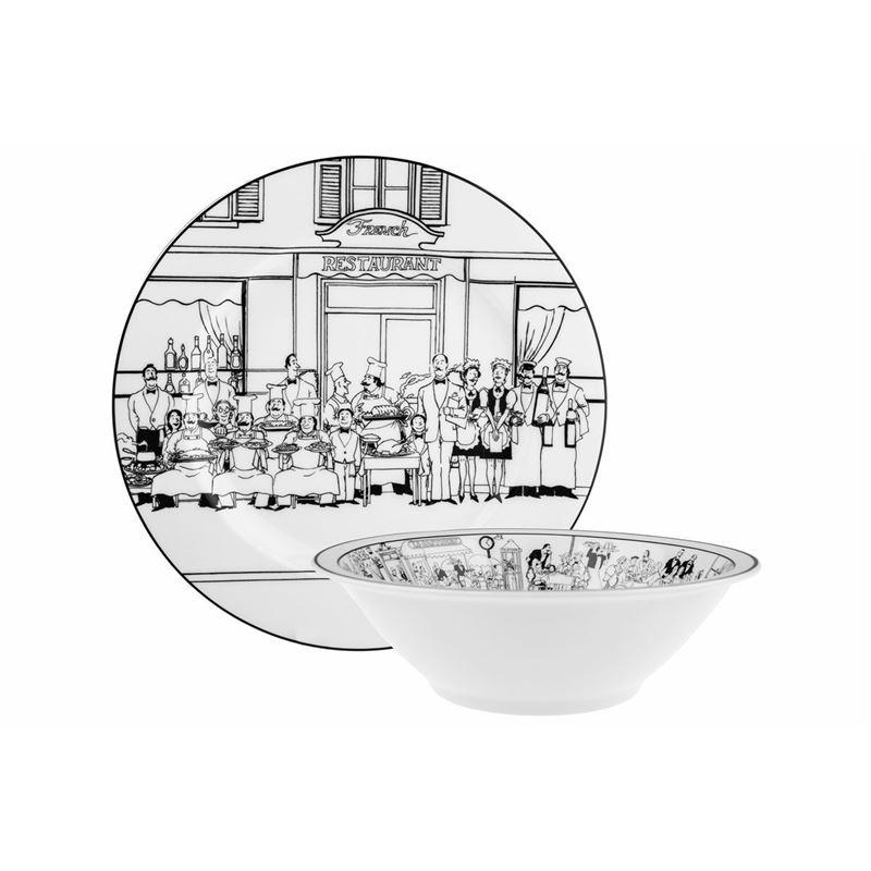 Noritake – Le Restaurant by EPOCH Serving Platter and Bowl Set