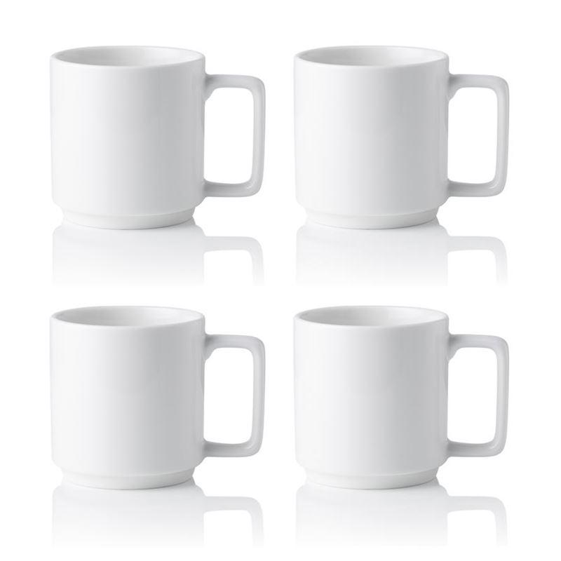 Noritake – Stax White Commercial Grade Mug 450ml Set of 4