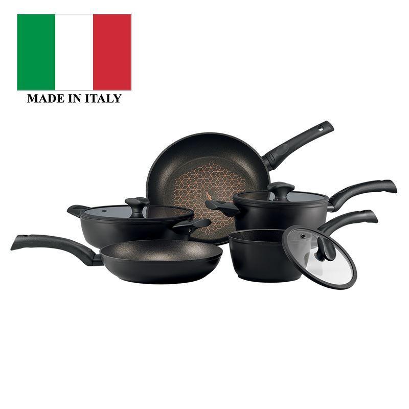Essteele – Per Salute Diamond Reinforced Non-Stick 5pc Cookware Set (Made in Italy)
