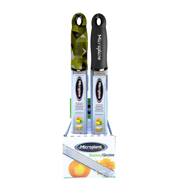 Microplane – Premium Classic Zester with Safety Cover 32cm Camouflage or Black