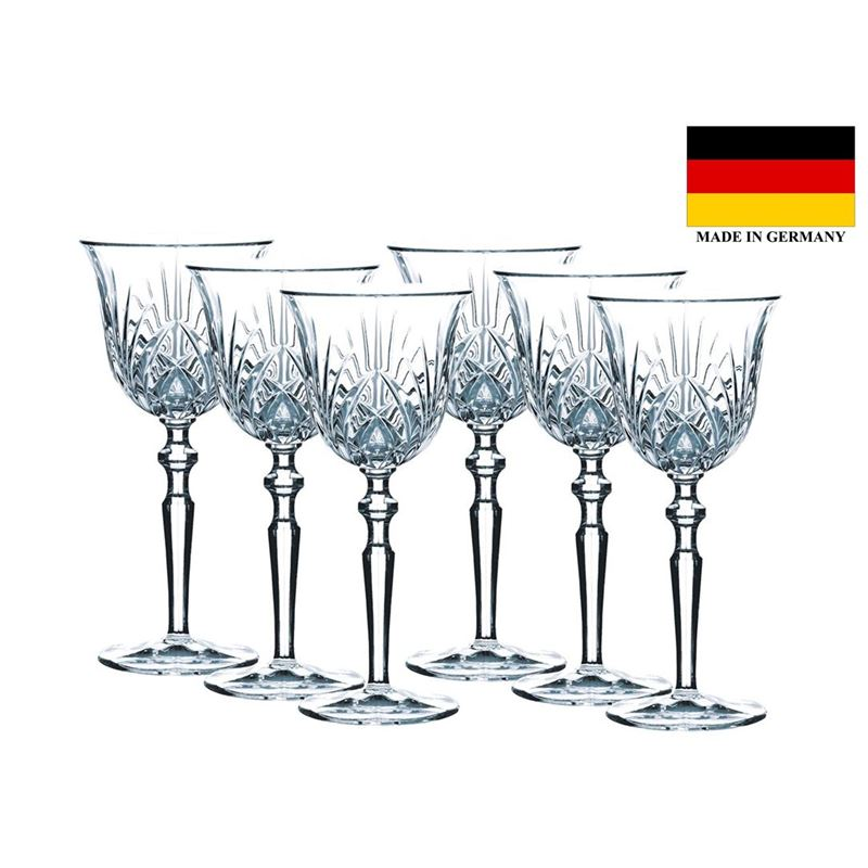 Nachtmann Crystal – Palais Large White Wine Goblet 213ml Set of 6 (Made in Italy)