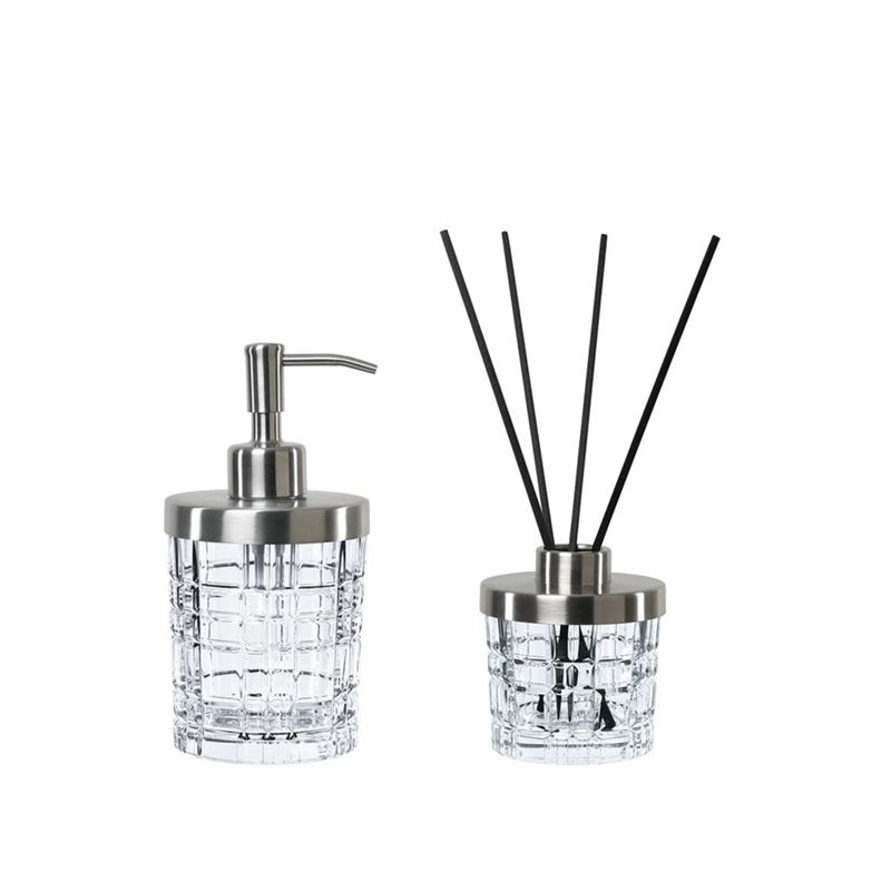 Nachtmann Crystal – Square Spa Gift Set Dispenser + Diffuser 2pc Set (Made in Germany)