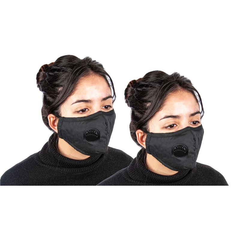Fabric Fashion Face Mask Black – Non-Medical PACK of 2
