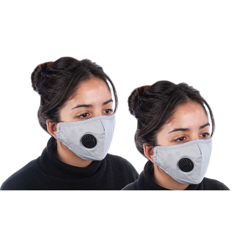 Fabric Fashion Face Mask Grey – Non-Medical PACK of 2