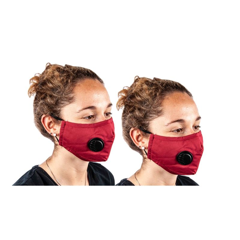 Fabric Fashion Face Mask Red – Non-Medical PACK of 2