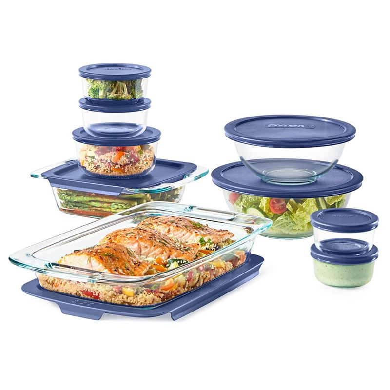 Pyrex Bake n Store – 18pc (including Lids) Glass Storage Set (Made in the U.S.A)