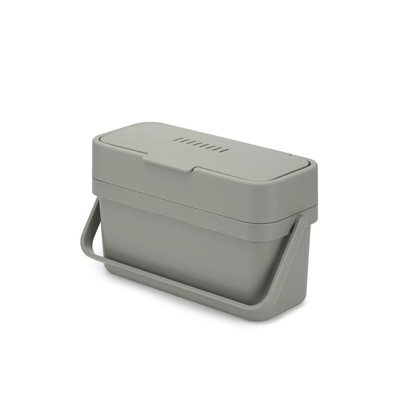 Joseph Joseph – Compo Easy-Fill Food Waste Caddy Grey 4Ltr with Door Mounting Bracket.