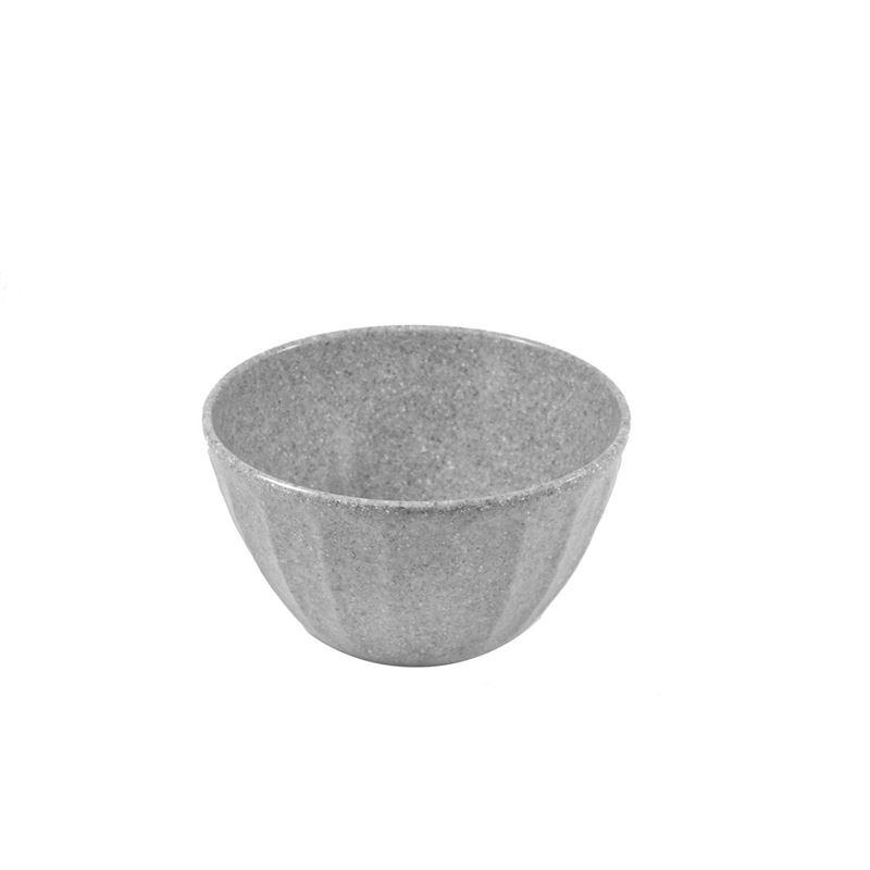 Jab Design – Stone Grey Ripple Effect Commercial Grade Melamine Deep Bowl 15×8.5cm