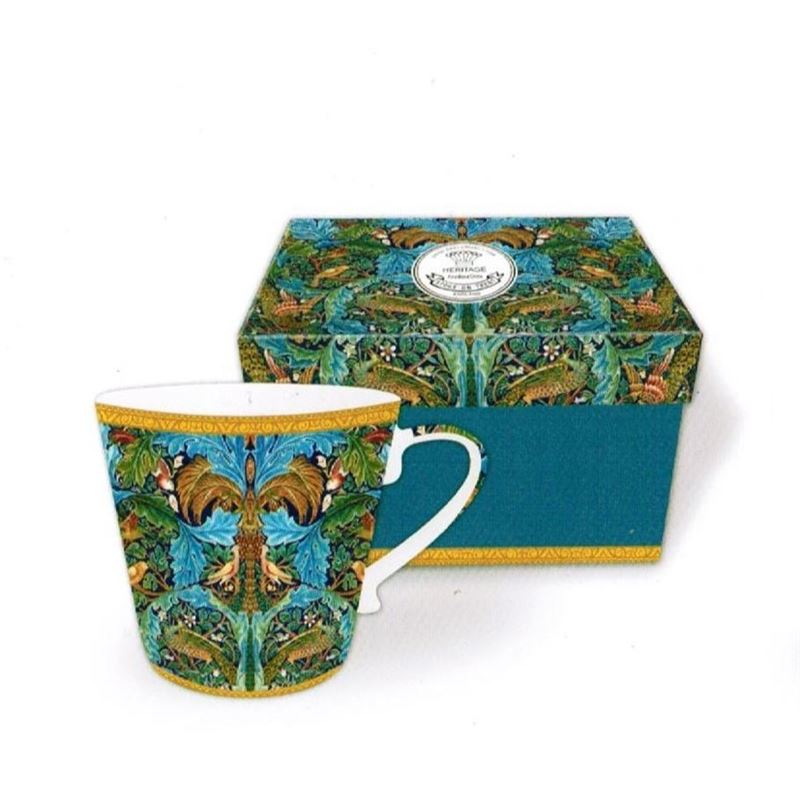 Heritage – Fine China Conical Mug 400ml – Deluxe Hat Box Blue Peacock