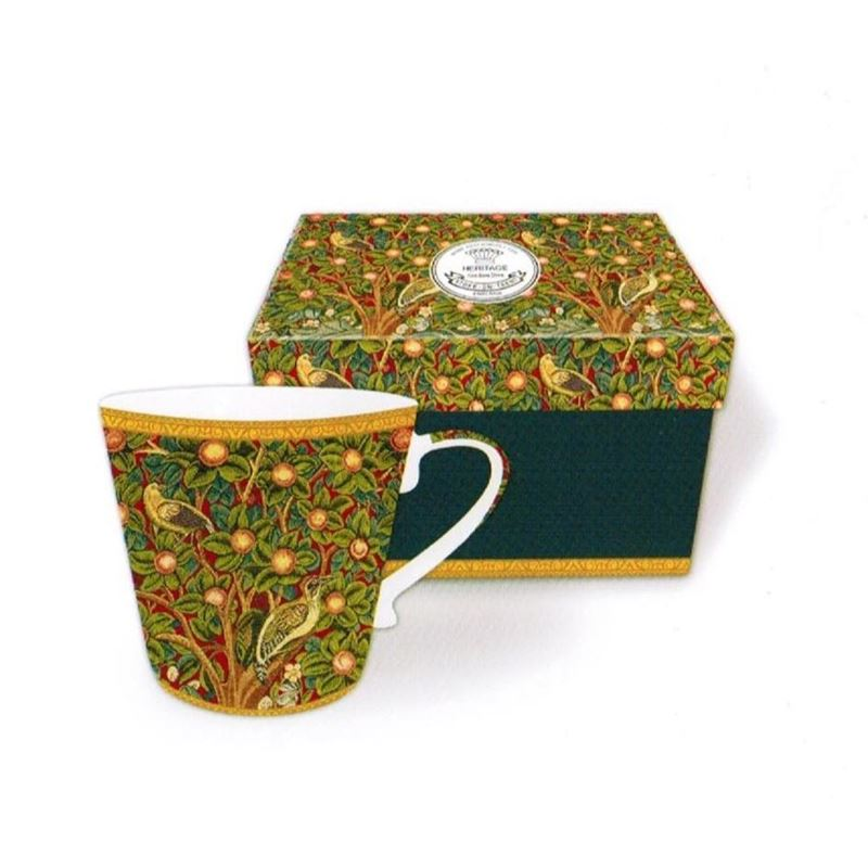 Heritage – Fine China Conical Mug 400ml – Deluxe Hat Box Orchard Tapestry