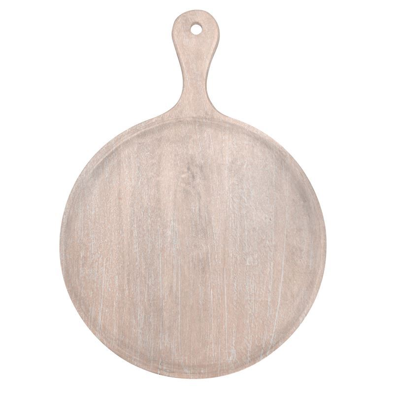 Chef Inox – Mangowood Serving Board Round with Handle 57x78x3.5cm Coral