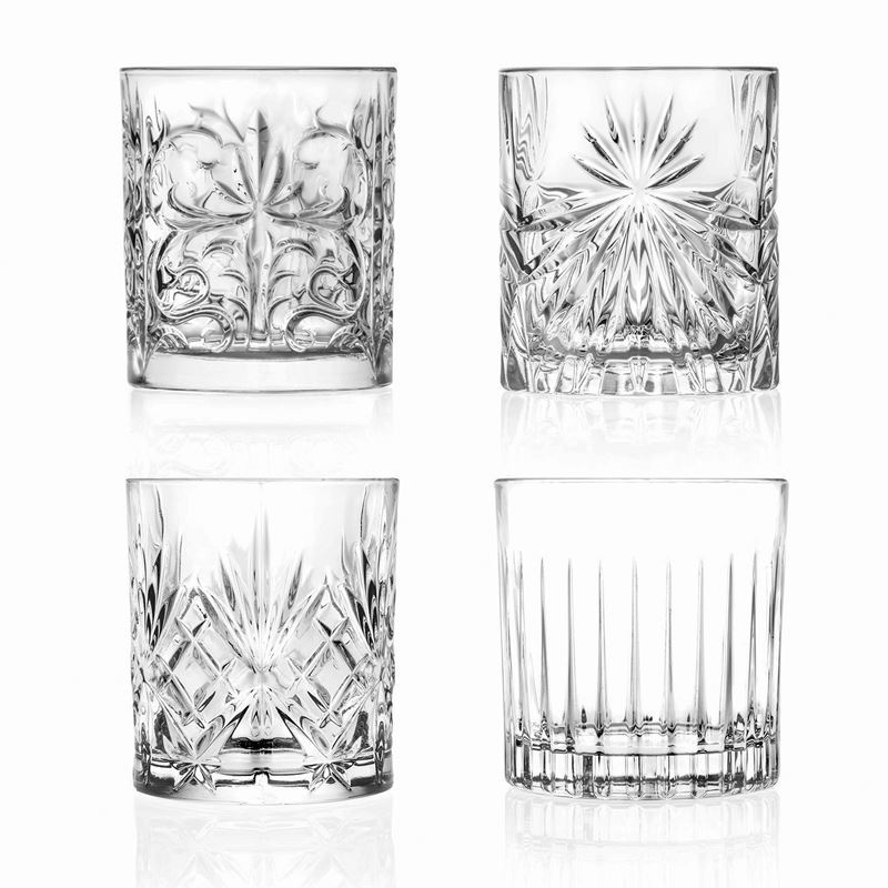 RCR Cristalleria Italiana – Mixology Double Old Fashioned Set of 4 (Made in Italy)