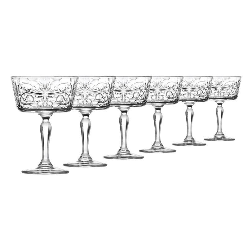 RCR Cristalleria Italiana – Tattoo Champagne Coupe 270ml Set of 6 (Made in Italy)