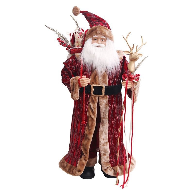 Merry Christmas Collection '21 – 91cm European Santa Claus Burgundy Robe