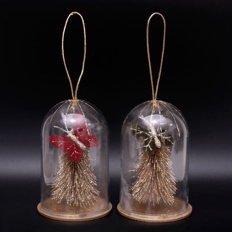 Merry Christmas Collection '21 – Cloche with Tree 12cm