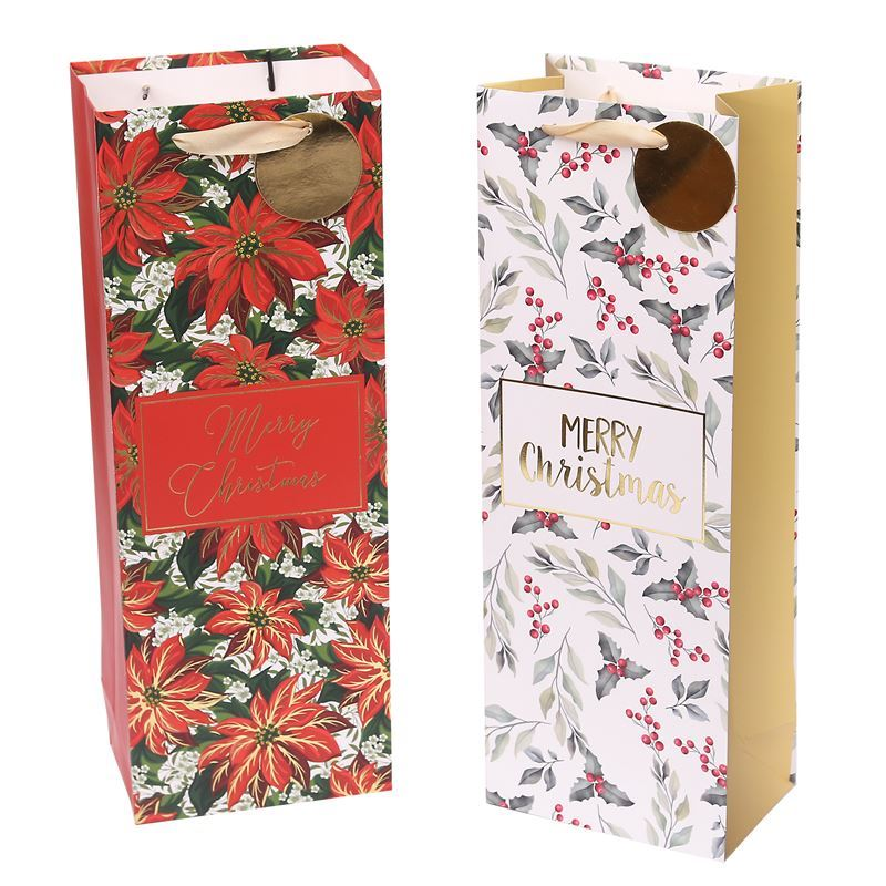 Merry Christmas Collection '21 – Wine Gift Bag Floral