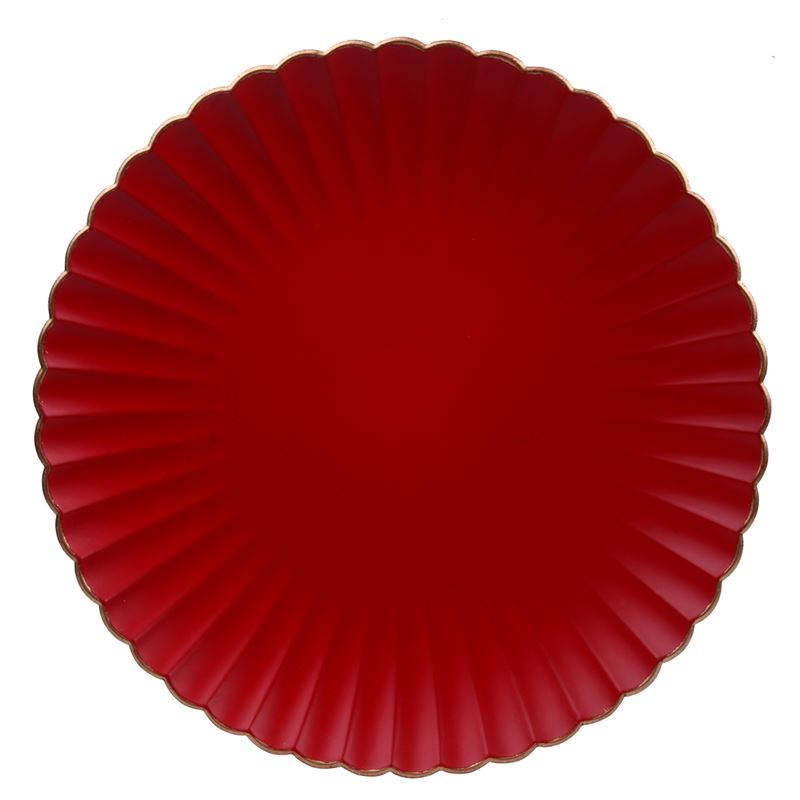 Merry Christmas Collection '21 – Red Gold Edged Charger Plate 32cm