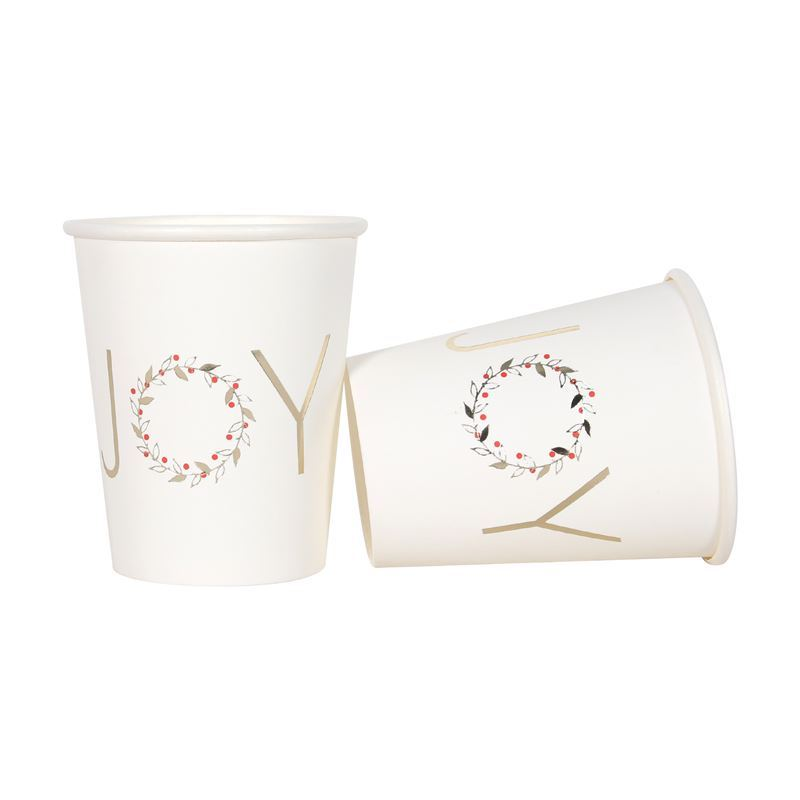 Merry Christmas Collection '21 – Gold Foil 266ml Paper Cups Pack of 12