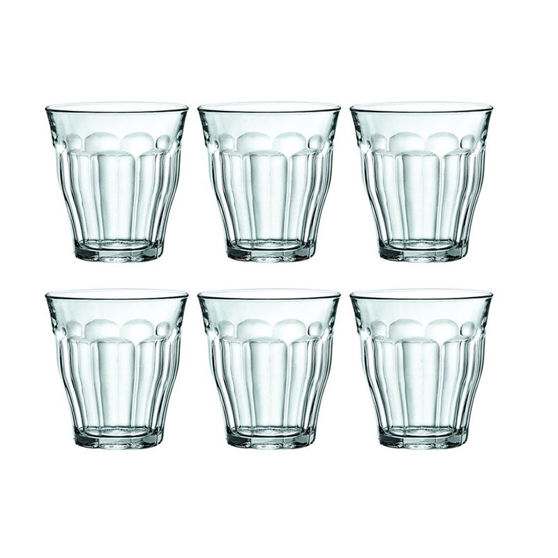 Duralex – Picardie Tempered Glass Tumbler 250ml Set of 6 (Made in France)