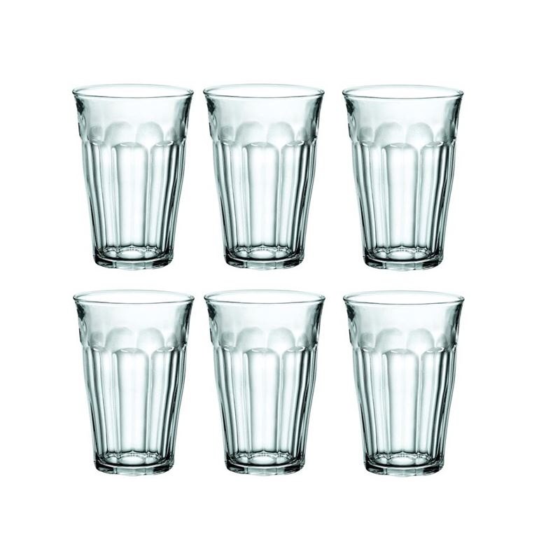 Duralex – Picardie Tempered Glass Tumbler 360ml Set of 6 (Made in France)