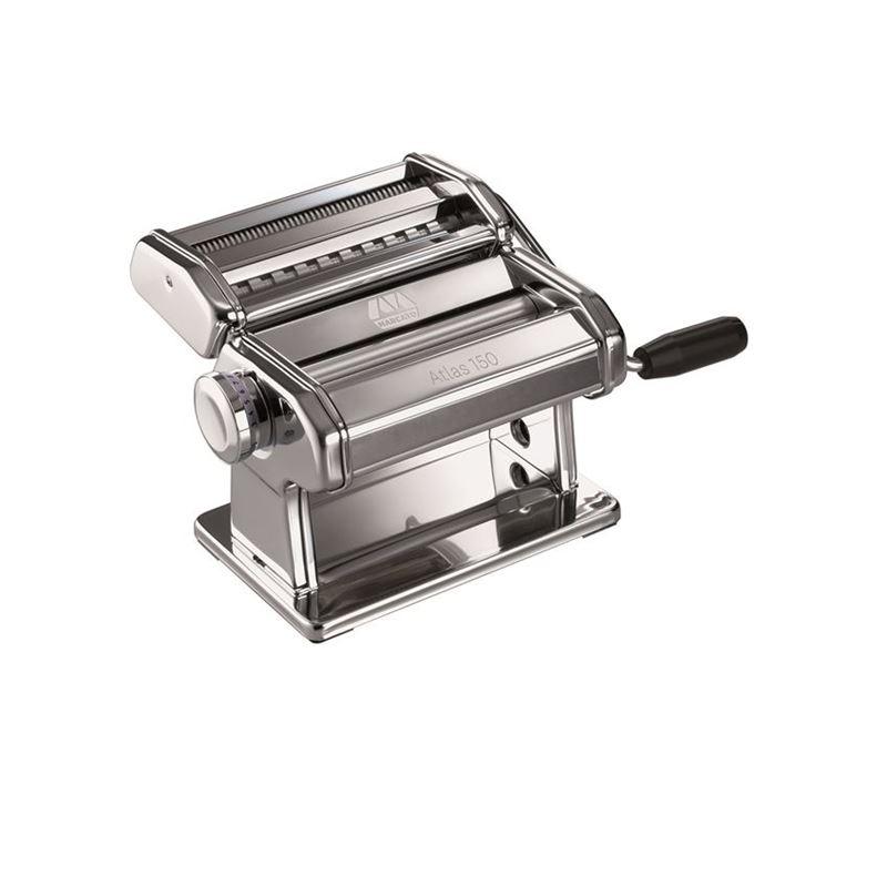 Marcato – Atlas 150 Pasta Machine with Tagliolini and Fettuccine Attachment (Made in Italy)