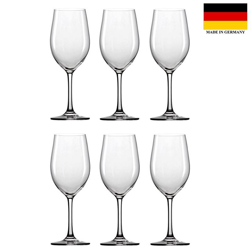 Stolzle – Classic Chardonnay 370ml Premium German Lead Free Crystal Glass Set of 6 (Made in Germany)