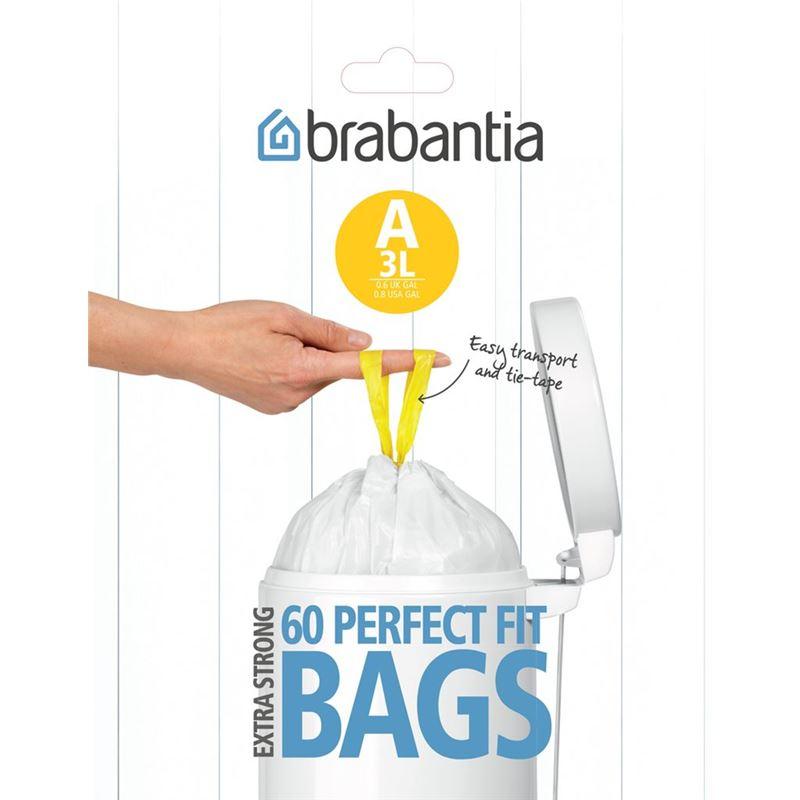 Brabantia – Smartfix Waste Bags60 Bags 3Ltr Pedal Bin