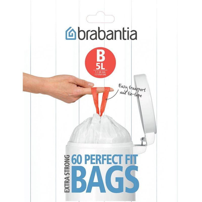 Brabantia – Smartfix Waste Bags60 Bags 5Ltr Pedal Bin