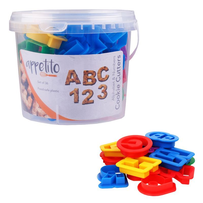 Appetito – Alphabet and Number Cookie Cutter set