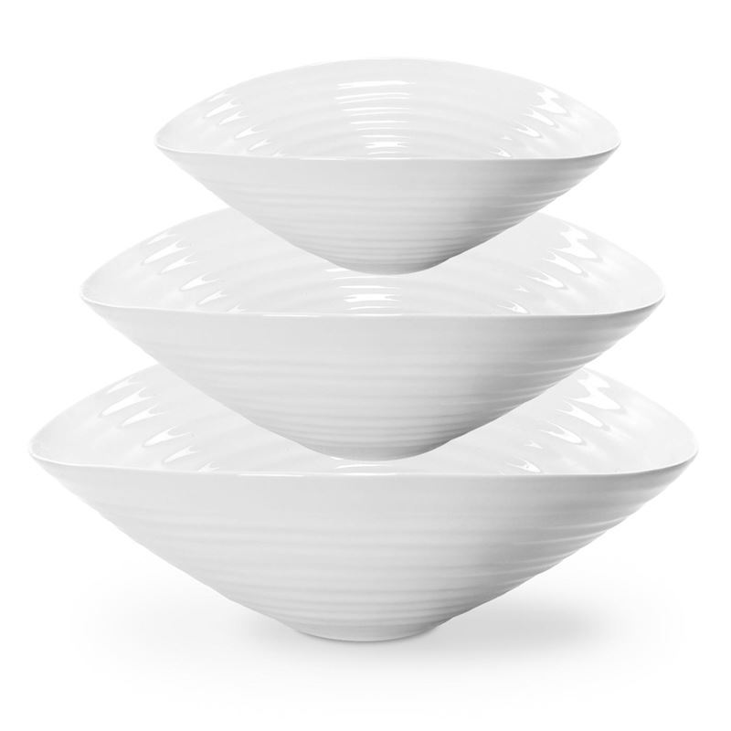 Sophie Conran for Portmeirion – Ice White Serving Bowls Set of 3
