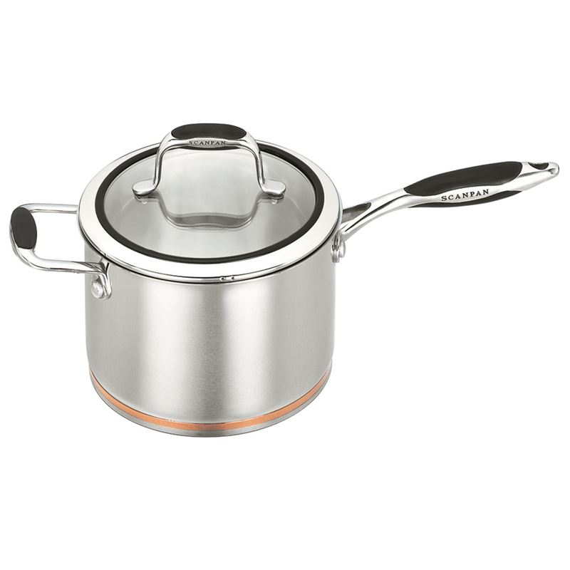 Scanpan Coppernox – Copper Based Saucepan with Glass Lid  20cm 3.5Ltr