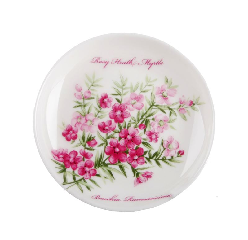 Dan Samuels Australia -Rosy Heath MyrtleFine Bone China Plate/Coaster 10cm
