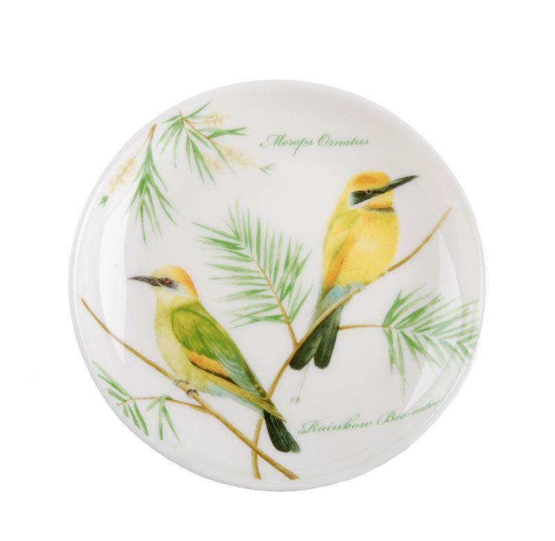 Dan Samuels Australia -Rainbow Bee-eaterFine Bone China Plate/Coaster 10cm